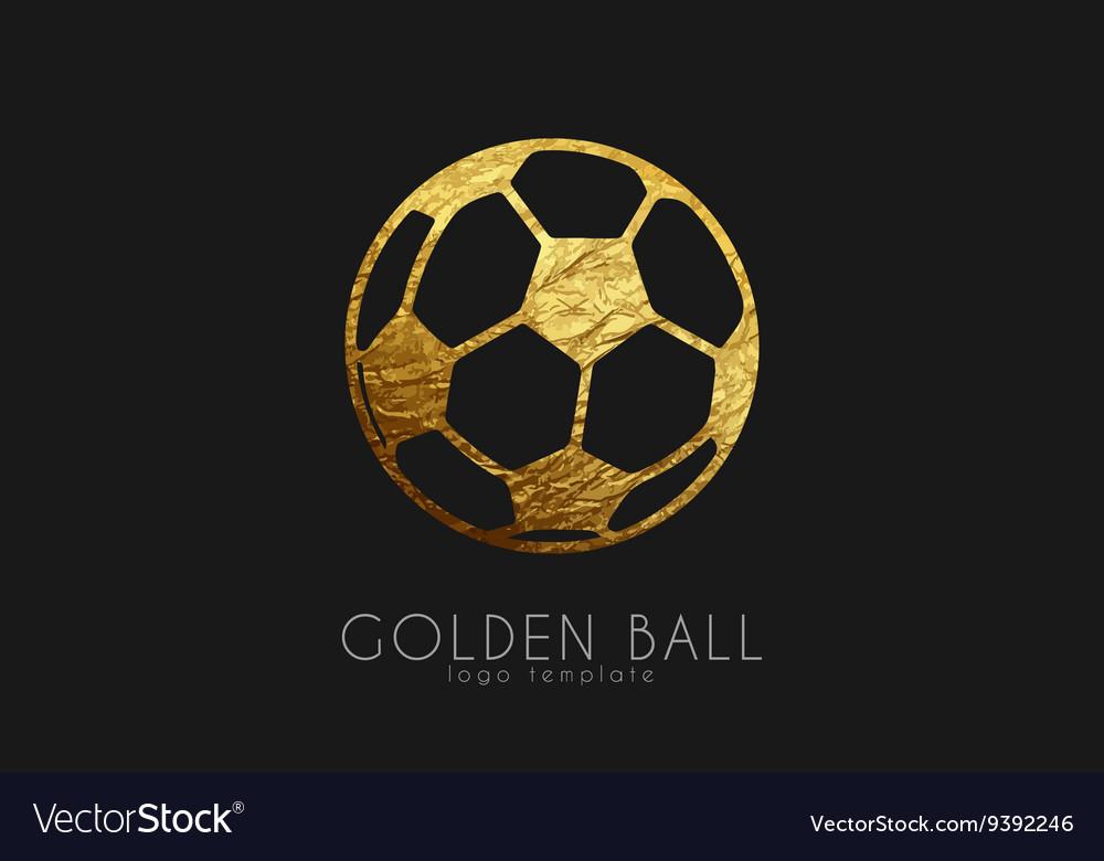Golden soccer ball golden football football logo
