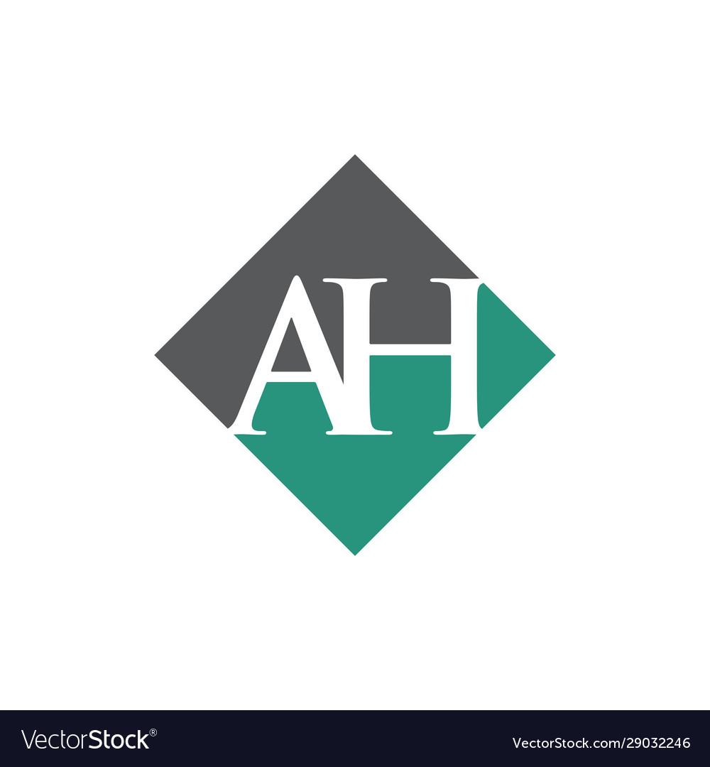 Initial ah rhombus logo design