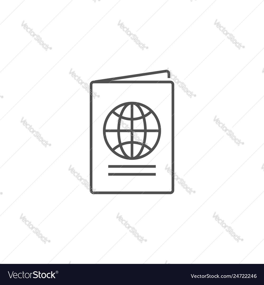 Passport related line icon
