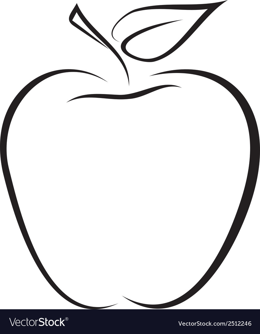 Sketch of apple