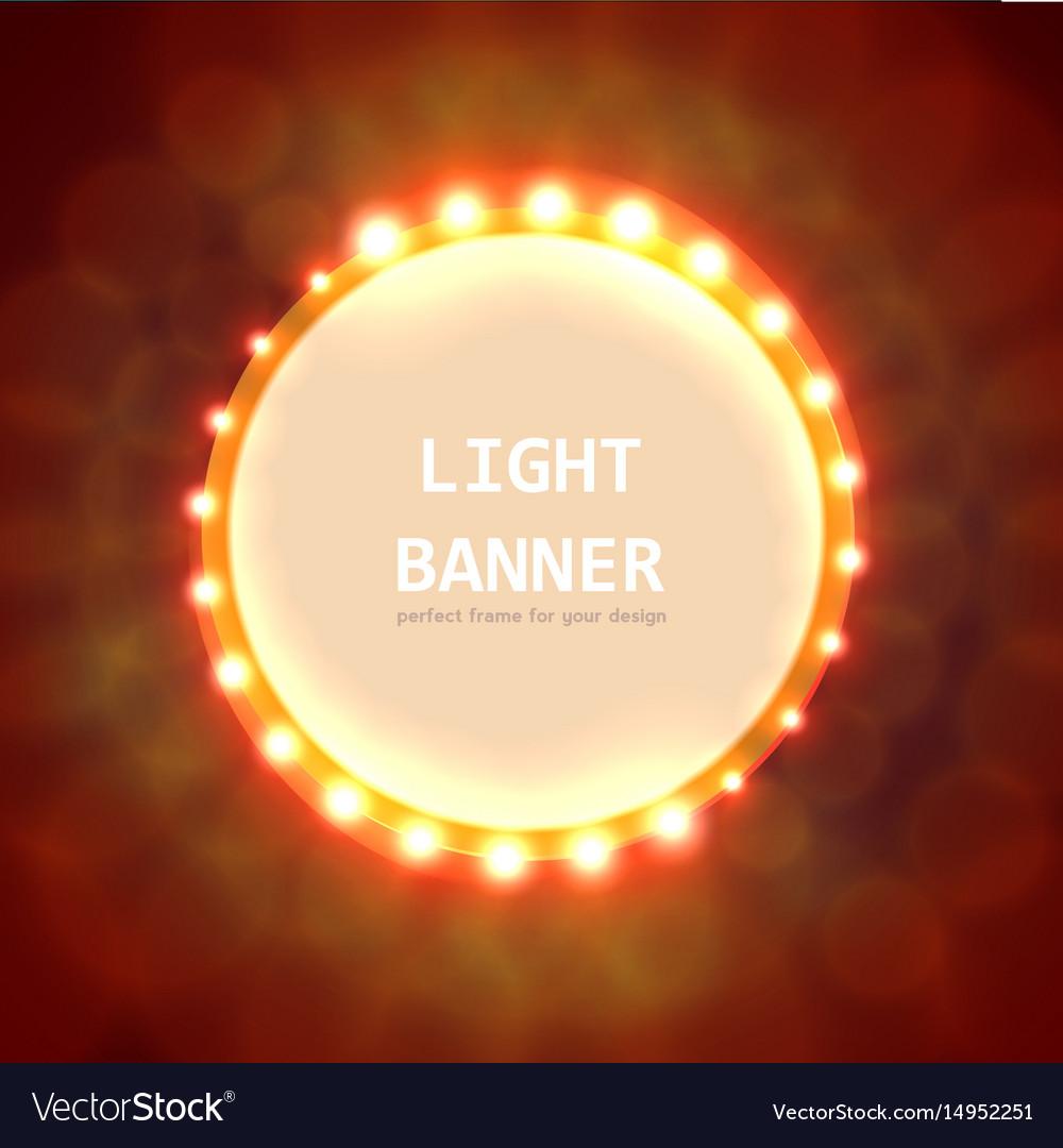 Abstract circle light banner