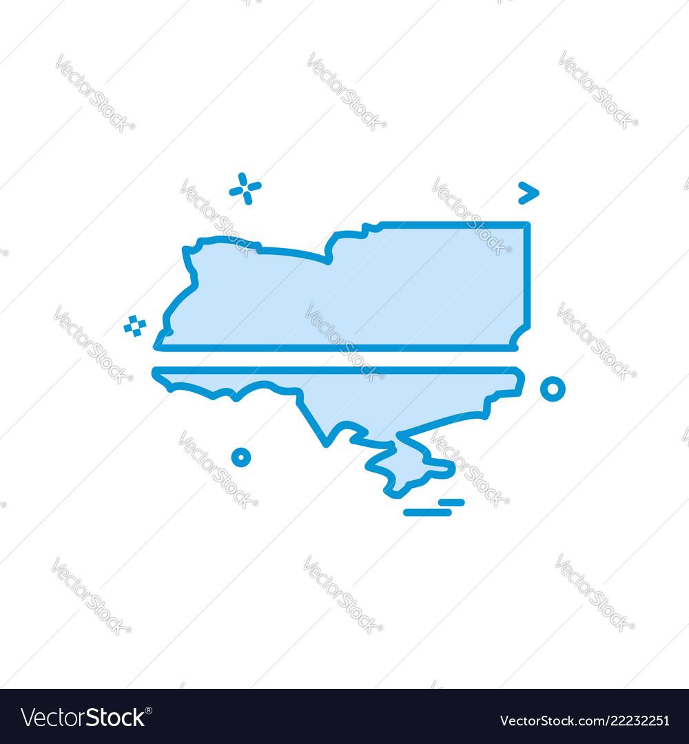 Ukraine icon design