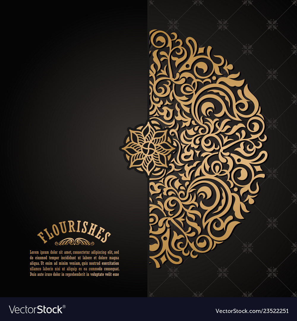 Vintage Luxury Decorative Design Of Golden Mandala