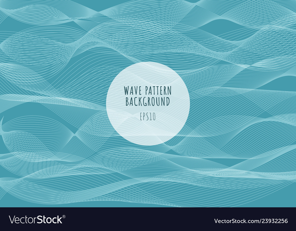 Abstract sea white lines waves pattern on blue