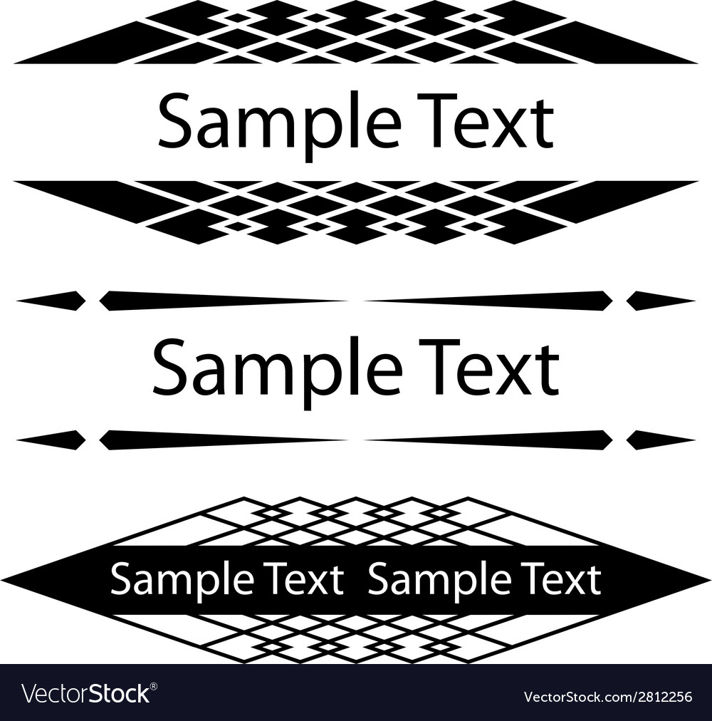Black ornate frames for text Royalty Free Vector Image