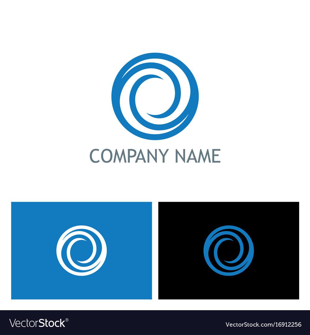 Circle round abstract company logo