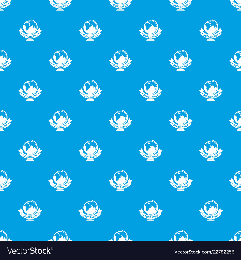 Geography pattern seamless blue