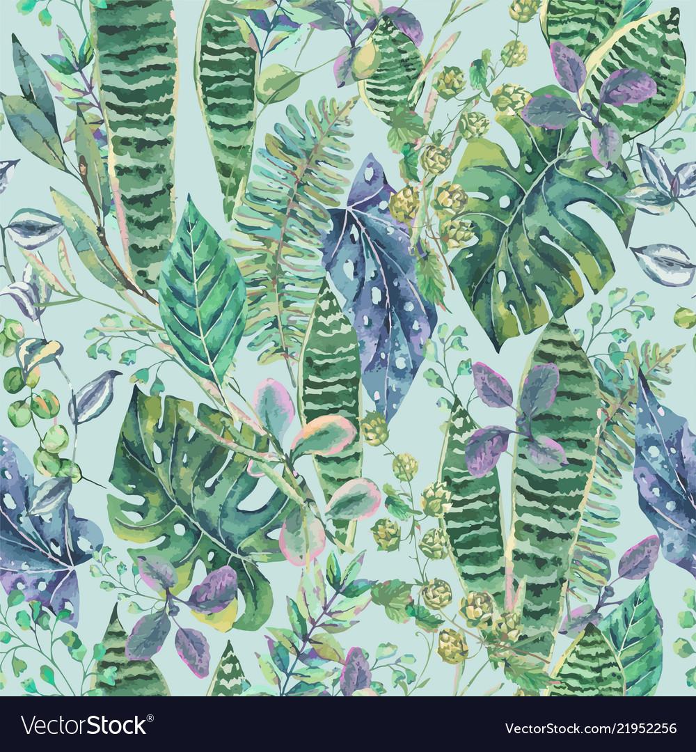 Green exotic leaves greenery botanical