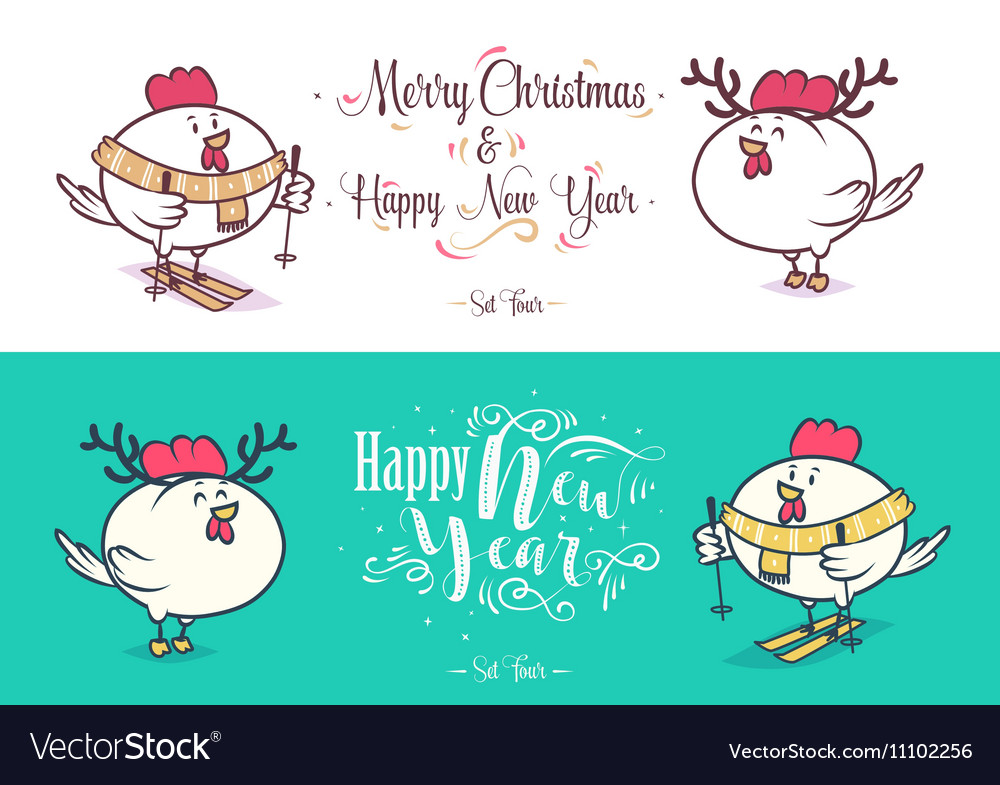 Happy New Year and merry christmas Holiday