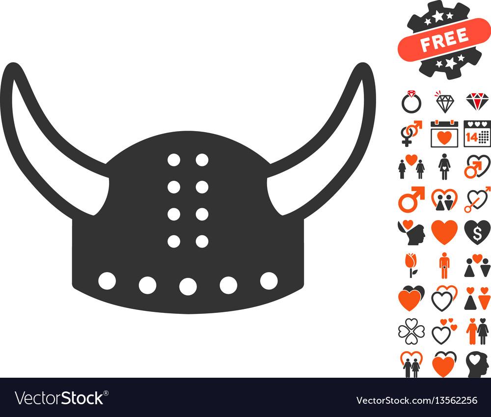 Horned helmet icon with dating bonus