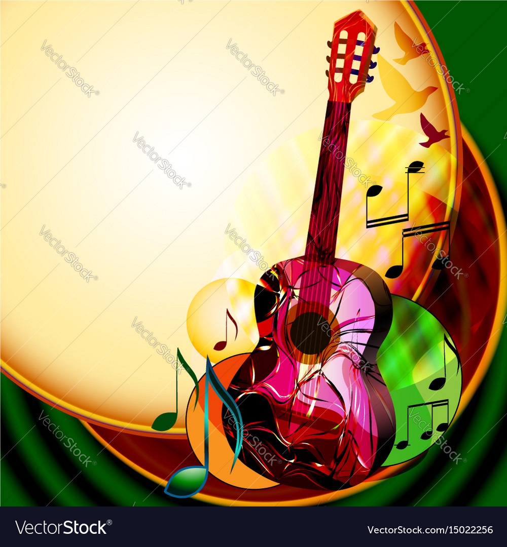 Music background with classical guitar
