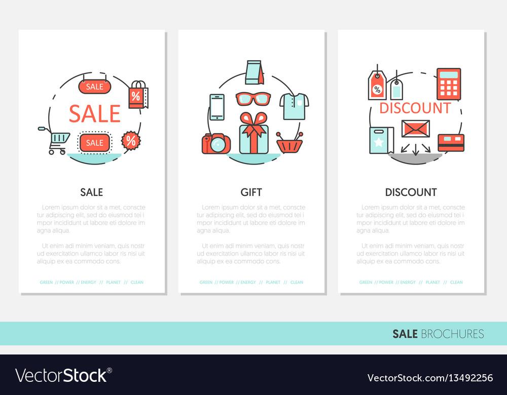 Sale discount business brochure linear