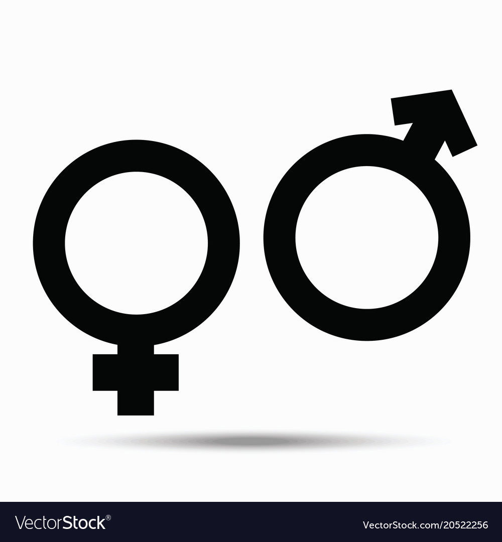 Symbols Of Male And Female On White Royalty Free Vector