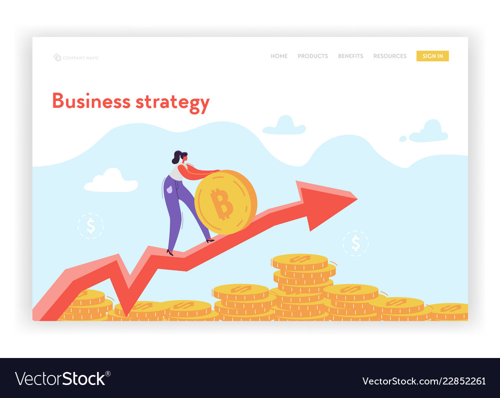 Financial growth strategy landing page template
