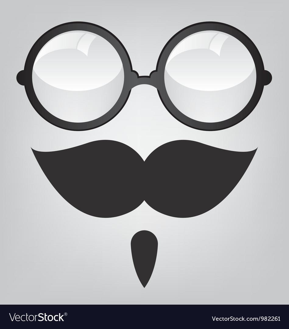 Funny mask retro sunglasses and mustache