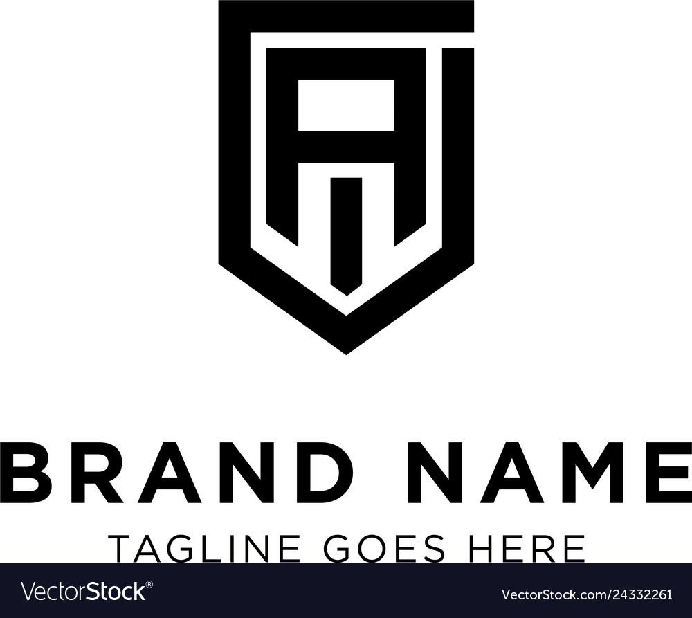 Initial a logo design