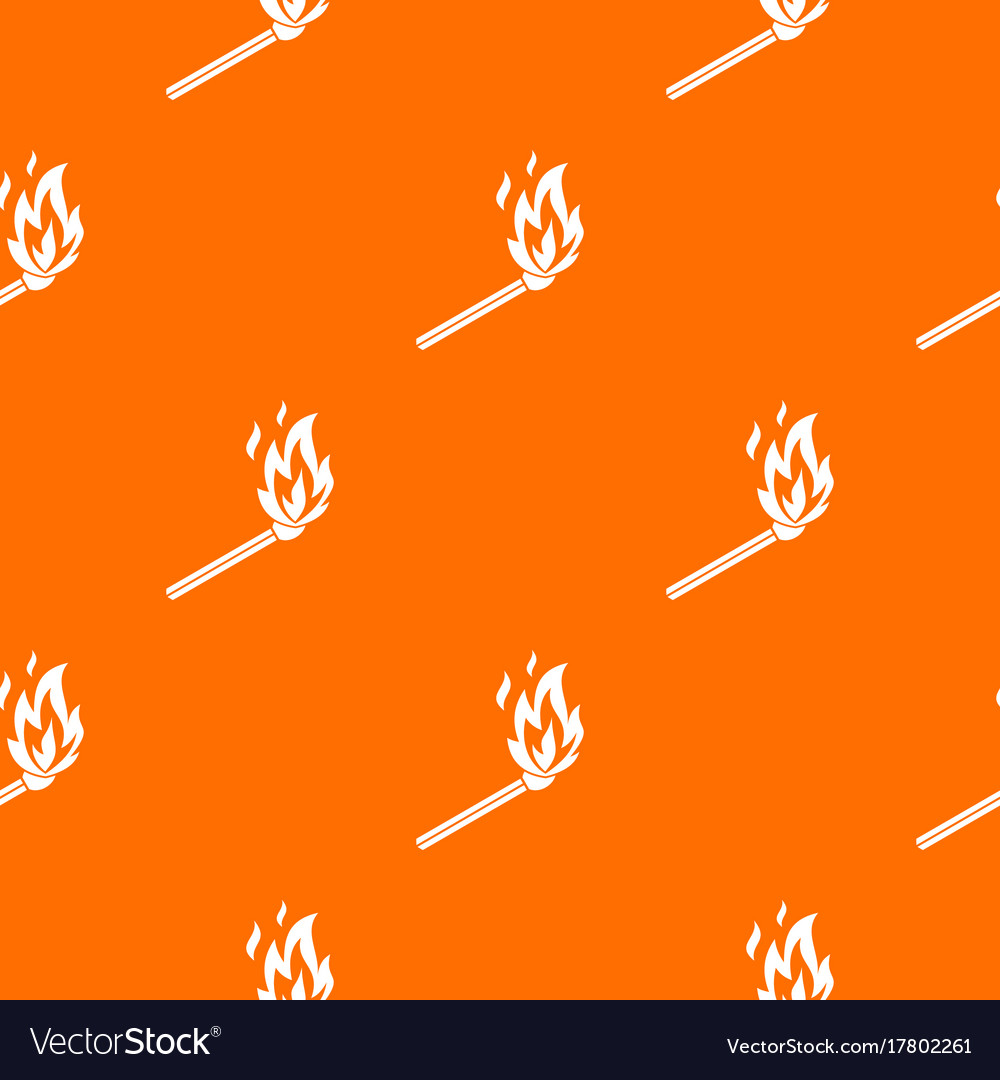 Match flame pattern seamless vector image