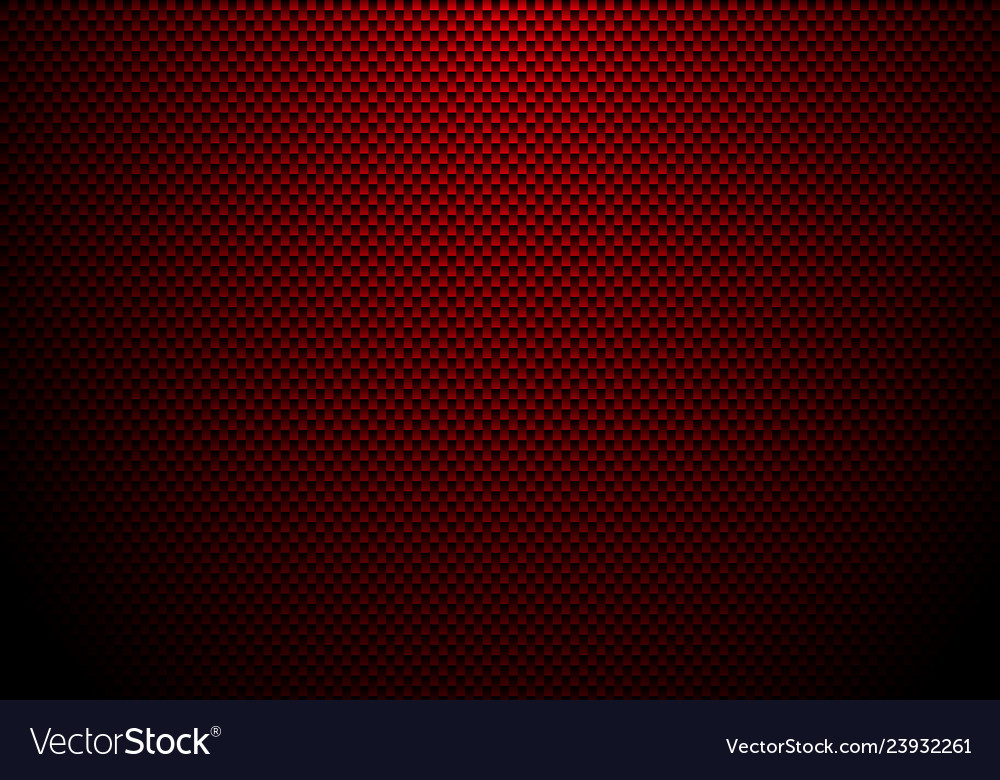 Red carbon fiber background and texture with Vector Image