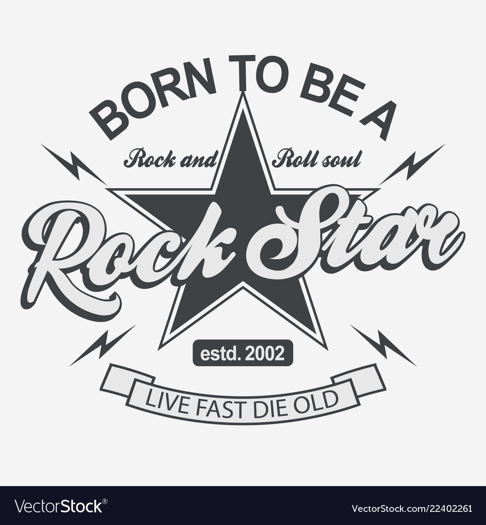 Rock star lettering poster or t-shirt