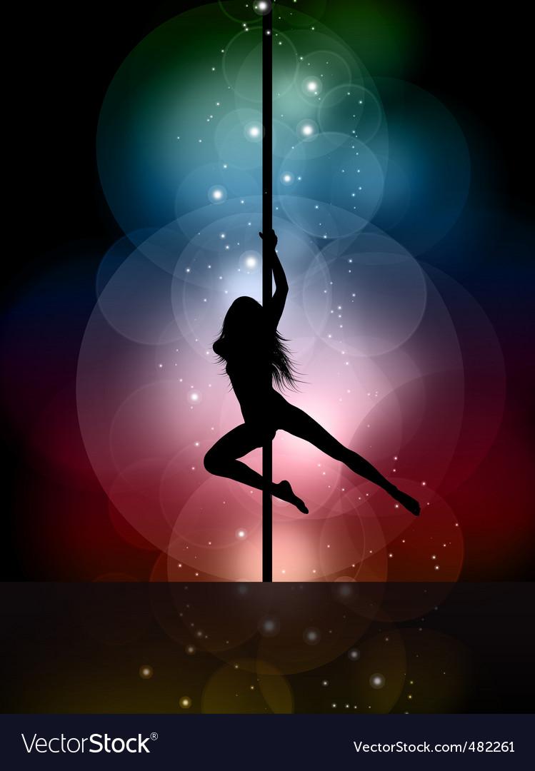 Sexy pole dancer vector image