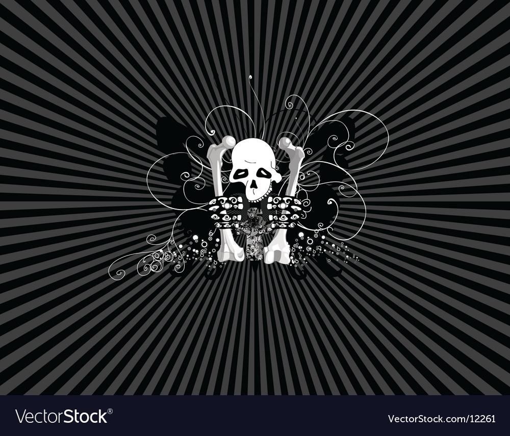 Skulls wallpaper Royalty Free Vector