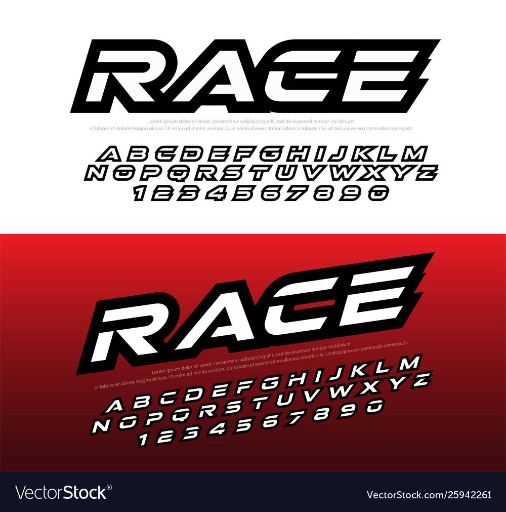 Racing Font - Suse Racing