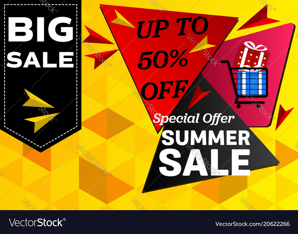Banner summer sale special offer geometric