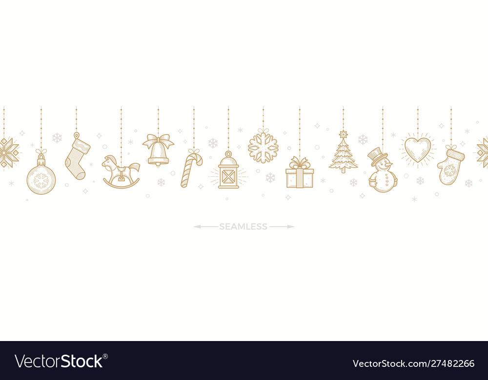 Christmas horizontal seamless pattern
