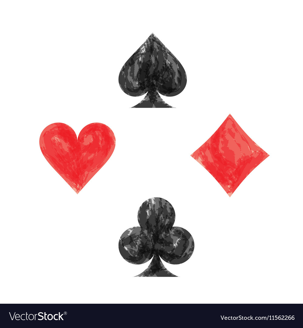 Collection of playing card symbols