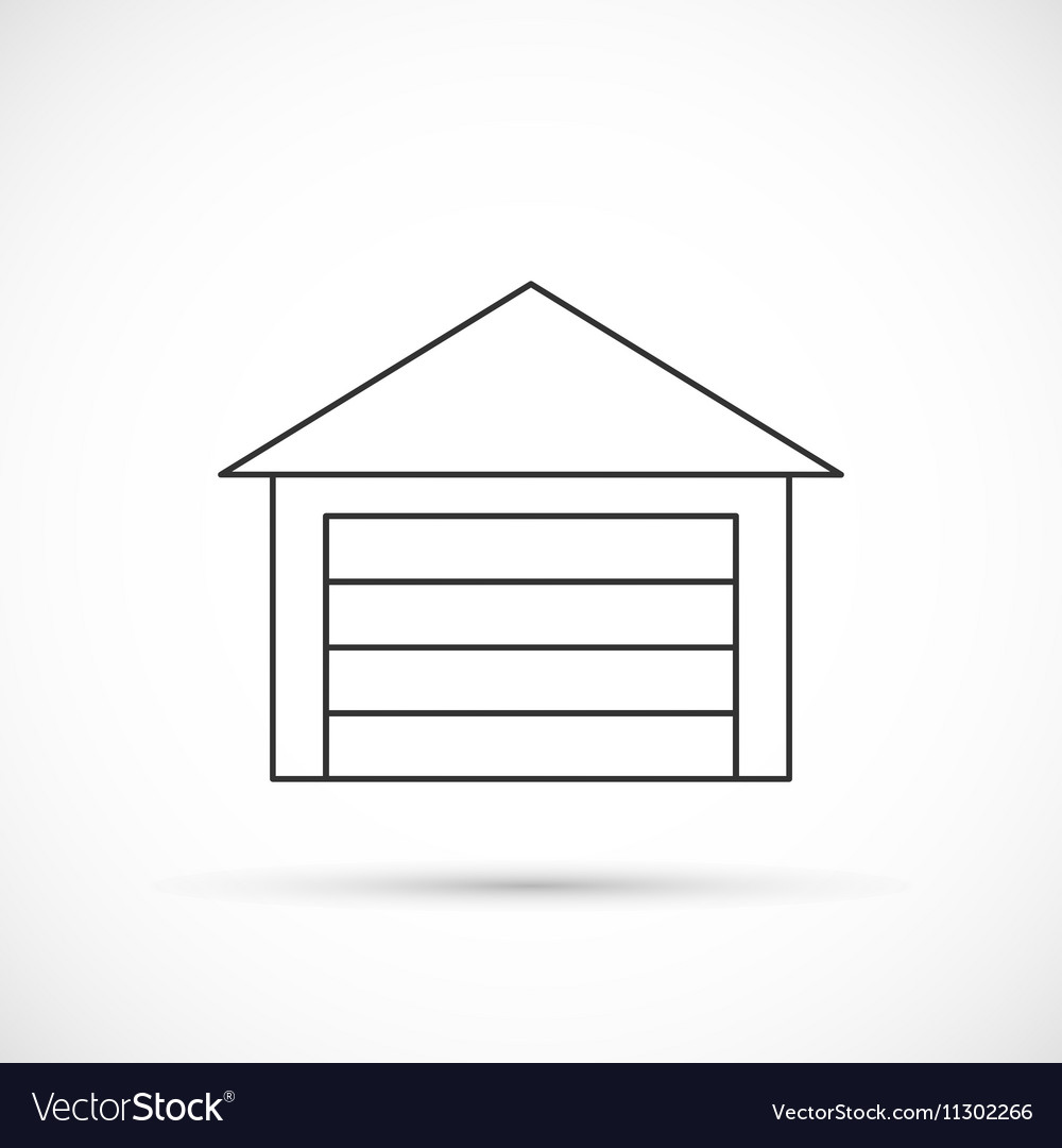Garage outline icon vector image
