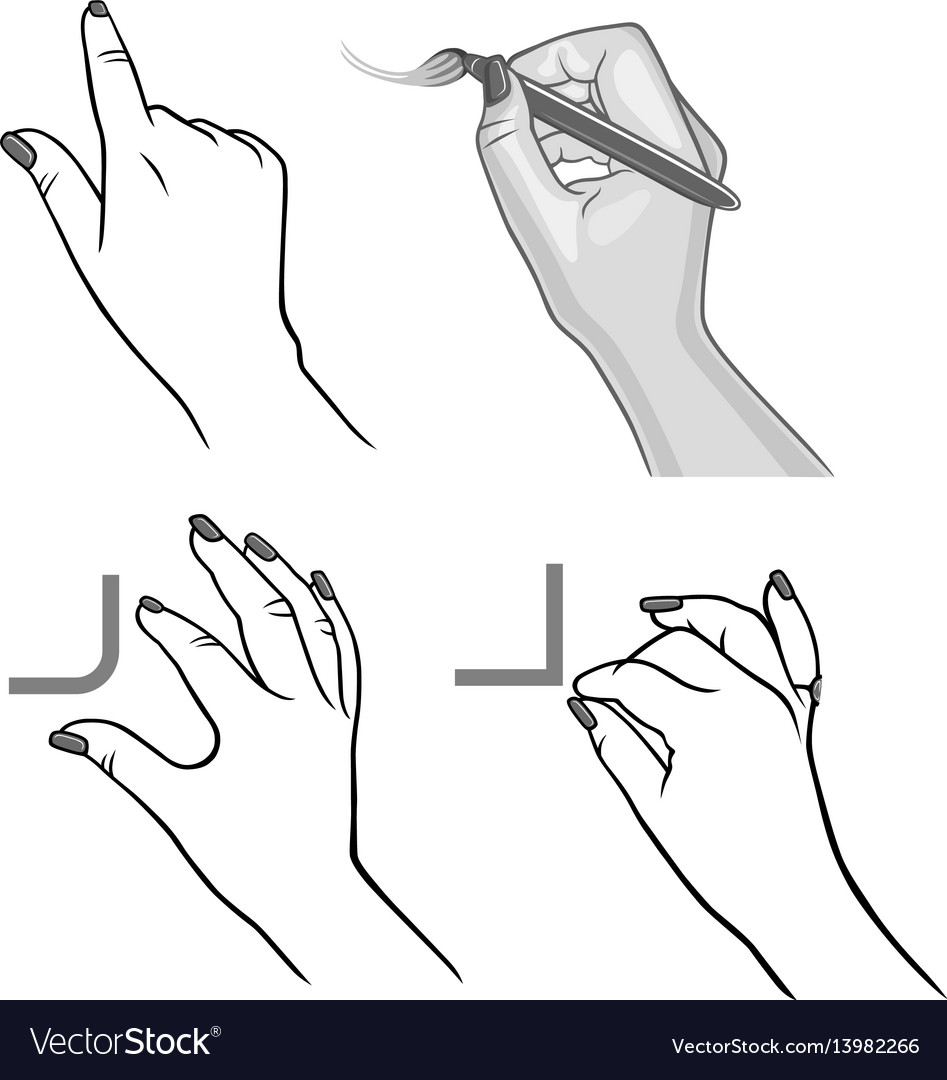 Hands drawing process