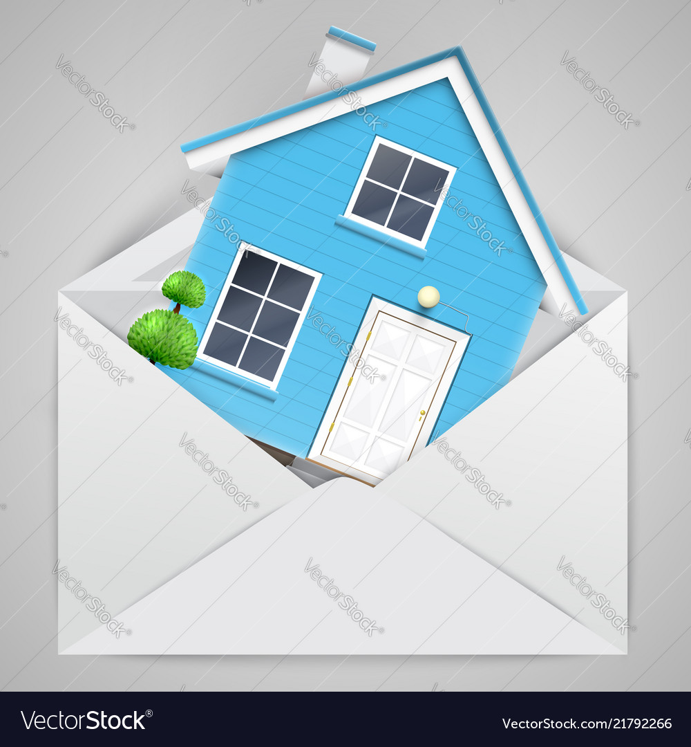 House in an envelope