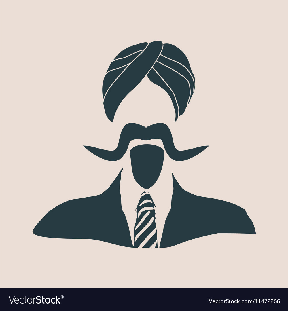 Indian businessman in a national turban