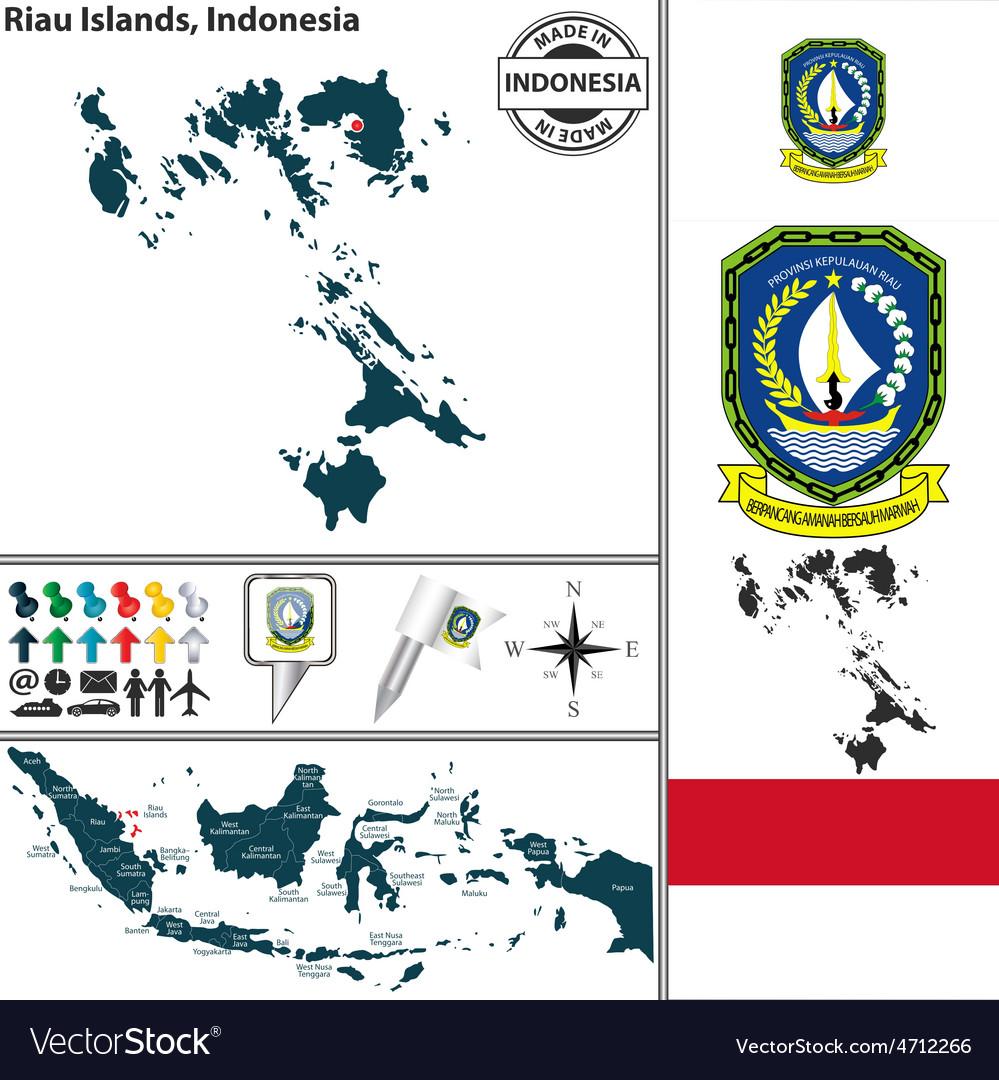 Map of Riau