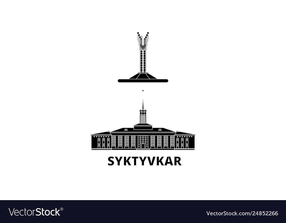 Russia syktyvkar flat travel skyline set russia