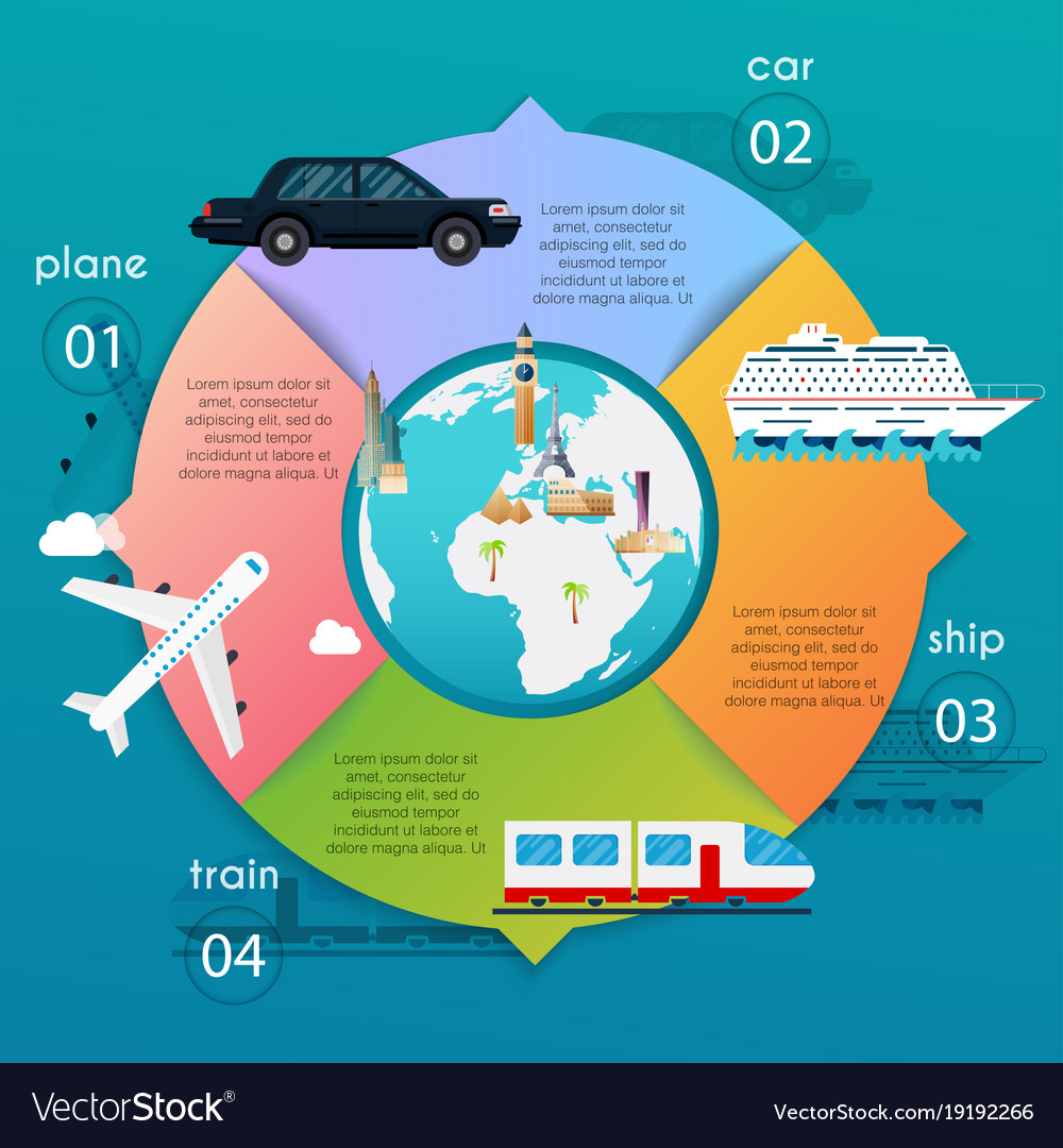 Transportation infographic different types of