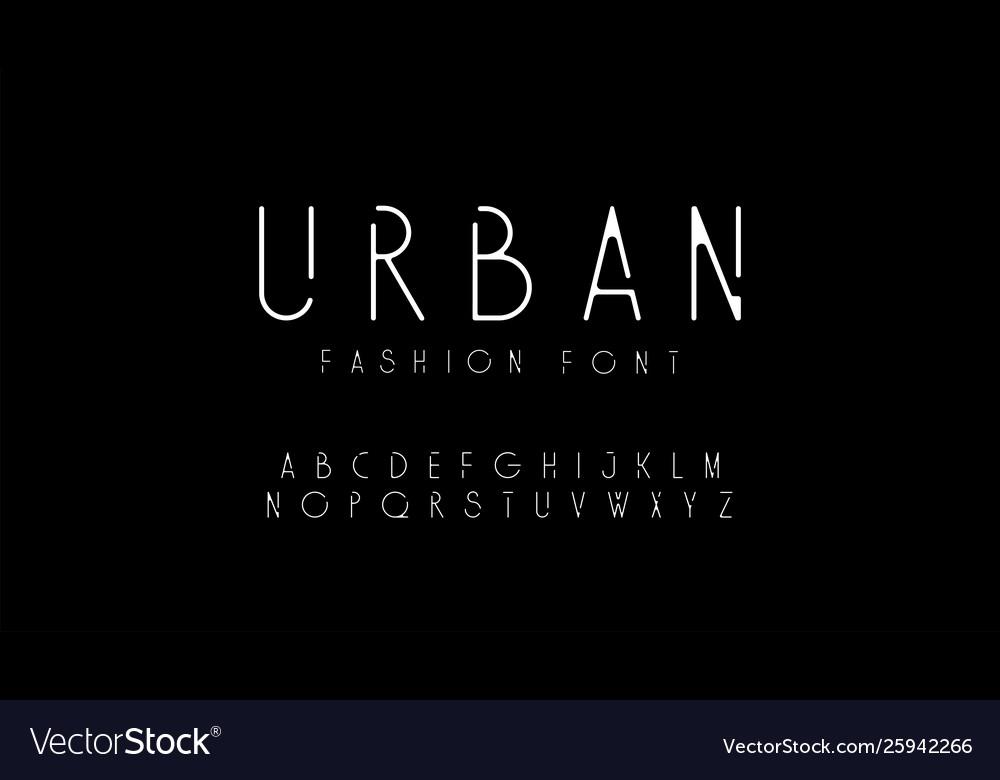 Urban fashion modern alphabet designs for logo