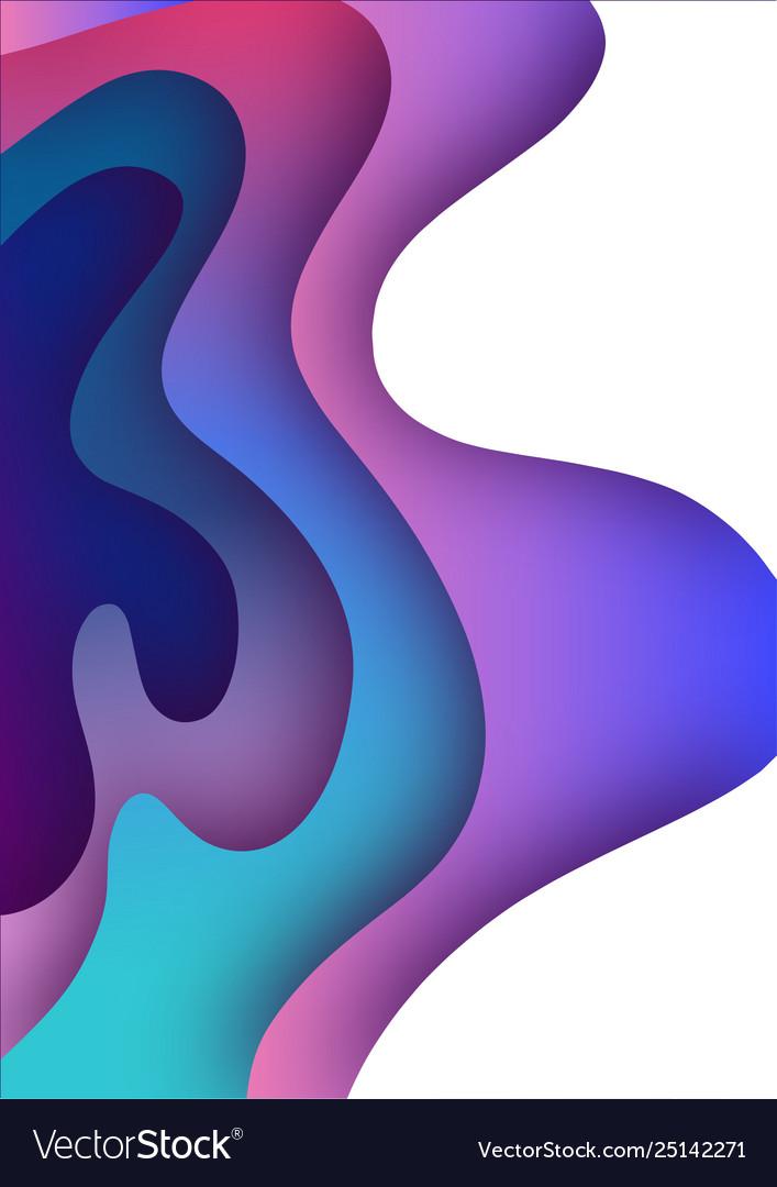 3d paper art bright colorful
