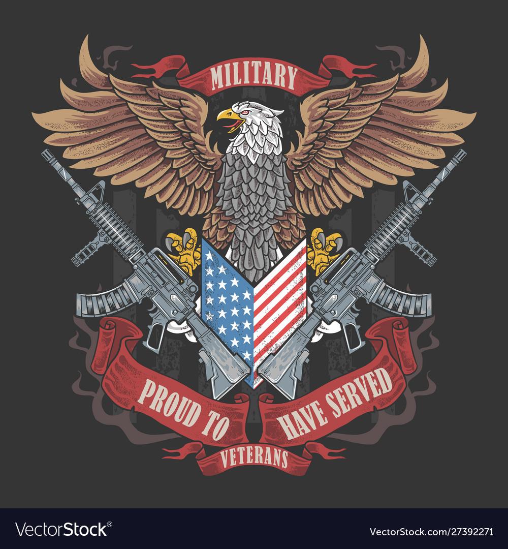 America eagle usa flag artwork for veterans day