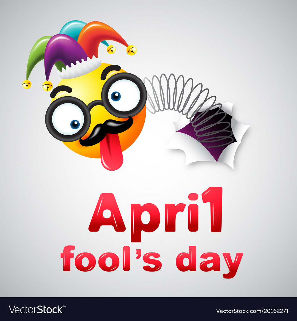April fools day typography colorful design
