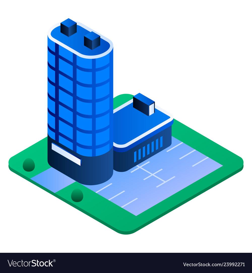 City building icon isometric style