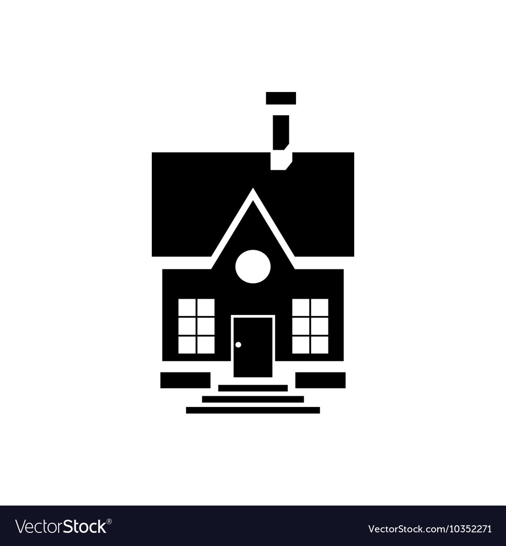Cute countryside house icon simple style