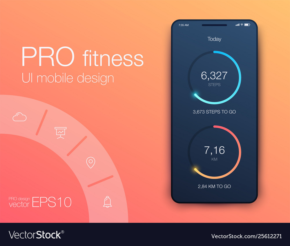 Graphics mobile infographics with two