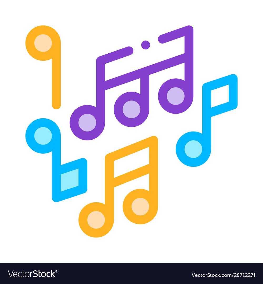 Melody music mono and treble notes icon
