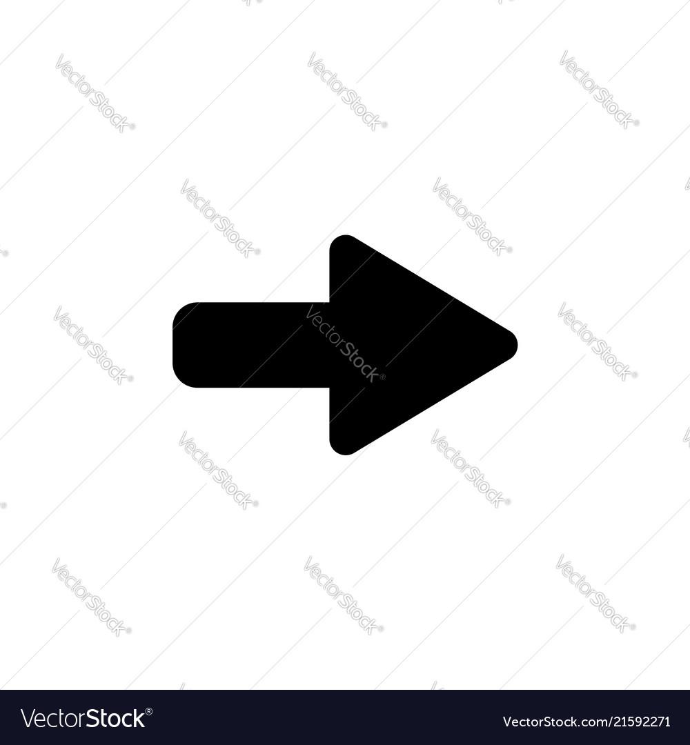 Right arrow symbol icon black