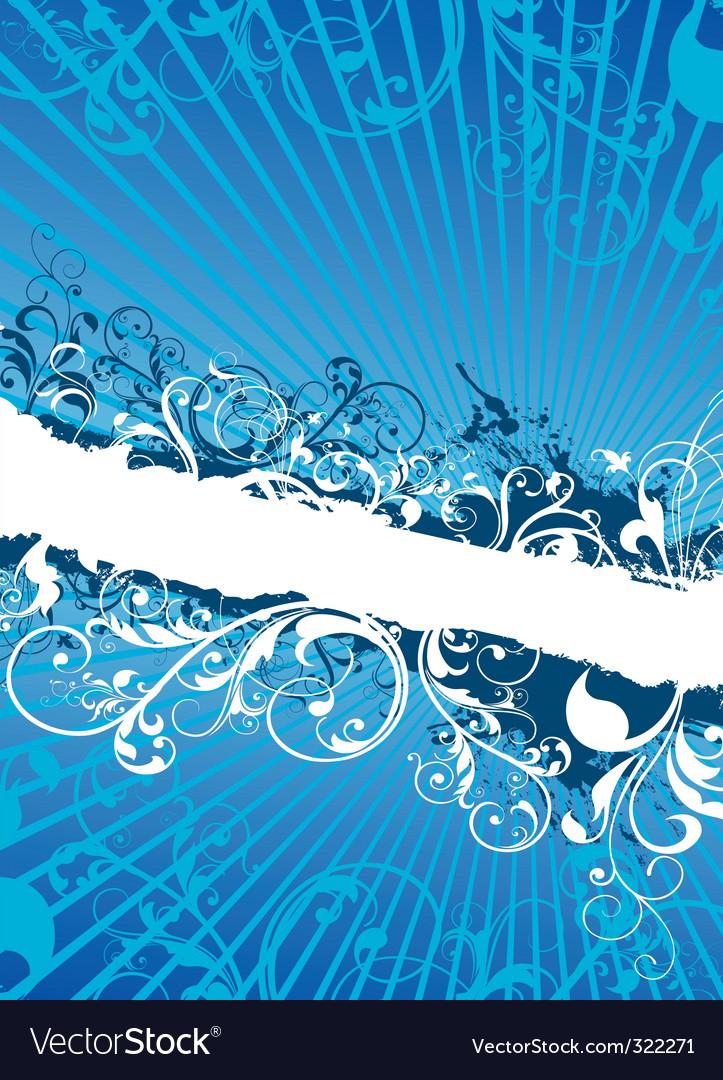 Swirling floral background banner