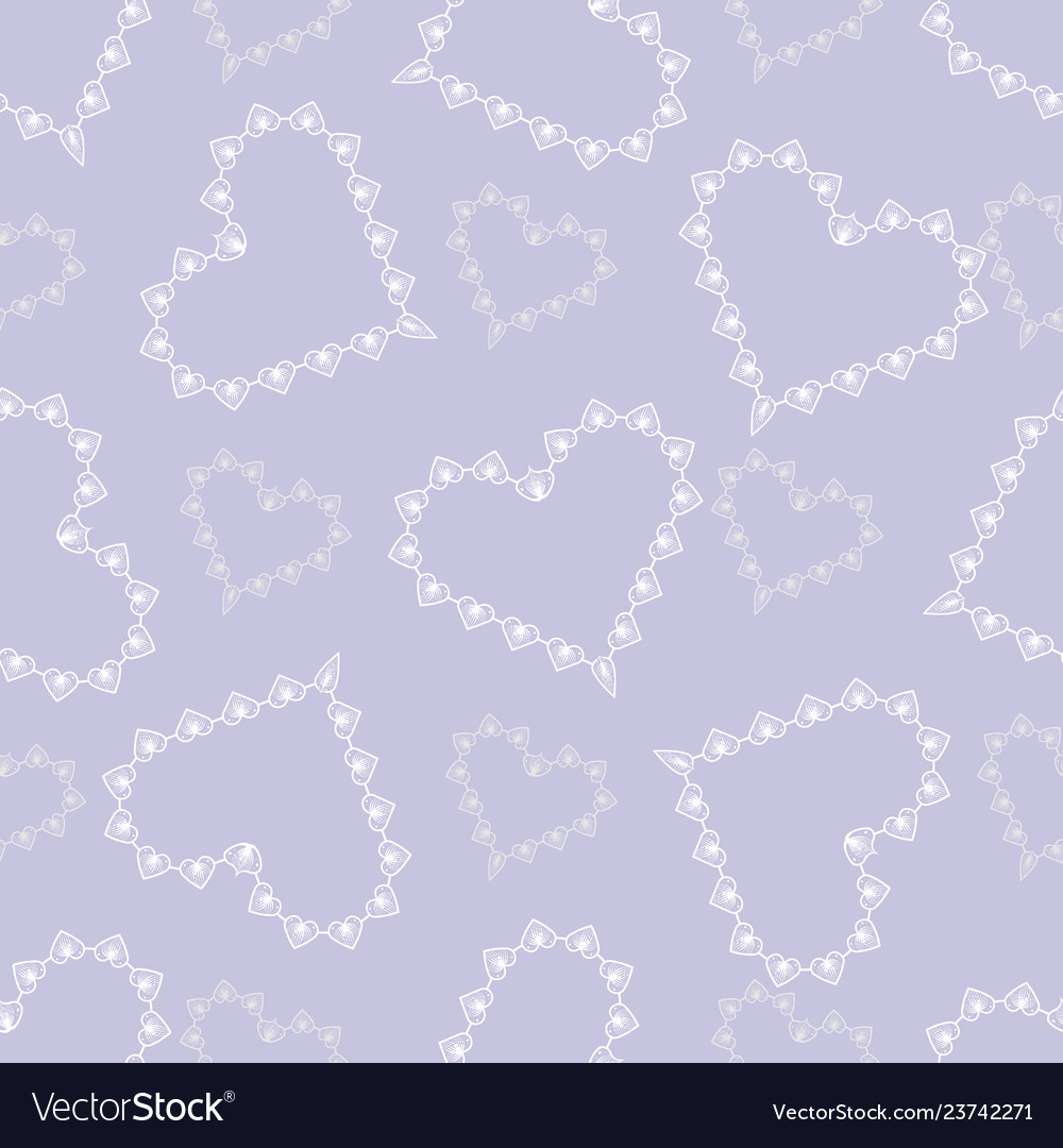 Valentine day cute abstract lace hearts seamless