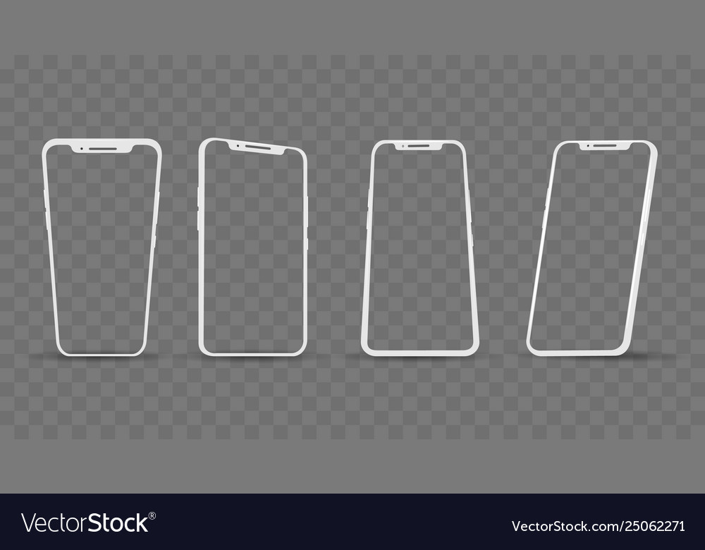 White phone angles frames
