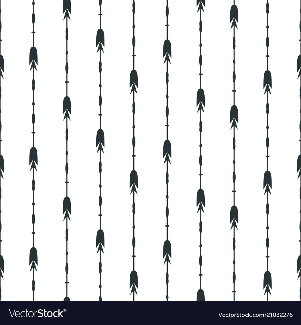 Black arrows seamless pattern background