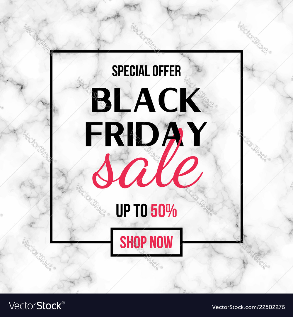 Black friday sale banner design template with